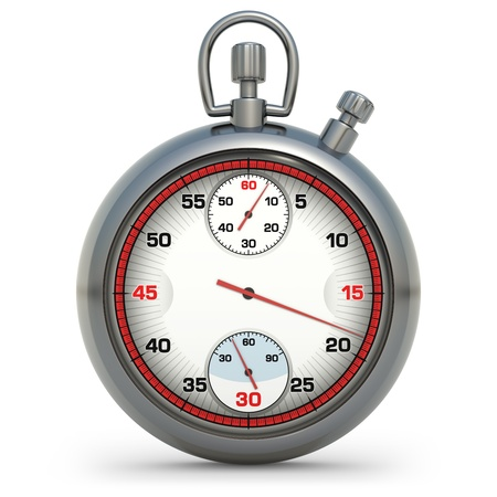 Stopwatch in 3D illustration Stock Illustration - 13225548