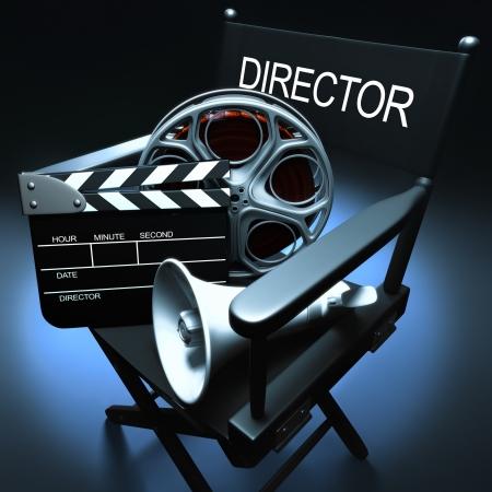 filmregisseur: Concept van Industrie cinematografische.
