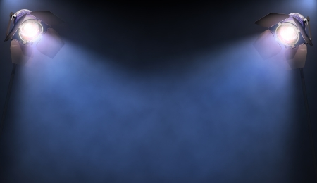 searchlight: The lights illuminate the area where someone or something important is in the spotlight. His text or image in the center of the lights.