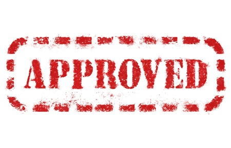 approve: Approved stamp over white background. High detail in high resolution.