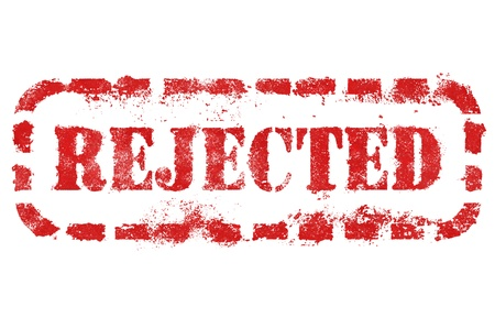 rejected: Rejected stamp over white background. High detail in high resolution.