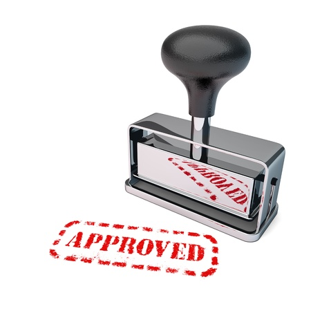 approved stamp: High detail approved stamp over white background.