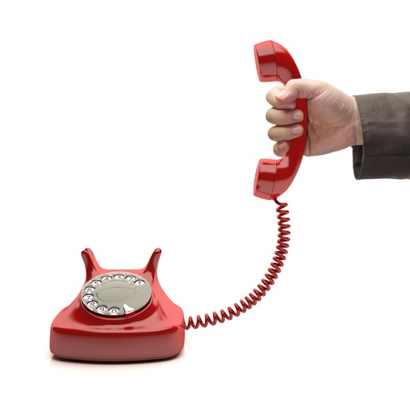 hand over: Red phone is ringing. The call is for you.
