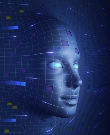 robot: Face Of Technologii Zdjęcie Seryjne