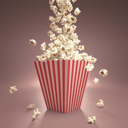 popcorn: Eliminazione di popcorn in strisce pacchetto classico. Archivio Fotografico