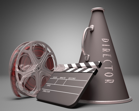 Important objects in the use of film industry and entertainment photo