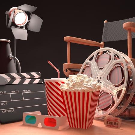 filmregisseur: Objecten van de filmindustrie, het concept van de cinema