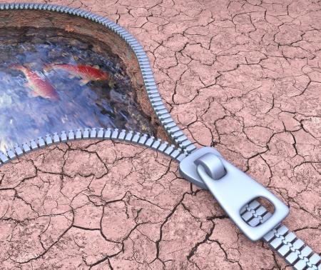 Encontrar agua en el medio de la sequía.