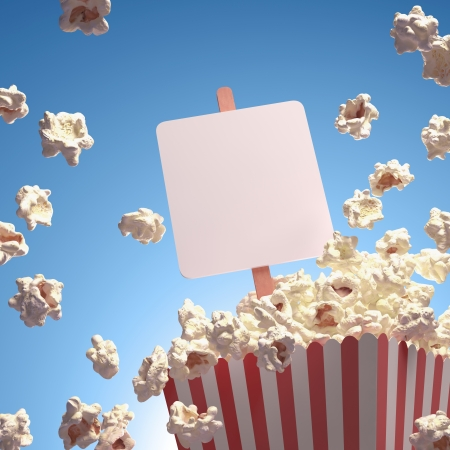everywhere: Popcorn exploding everywhere. Your text on the whiteboard.