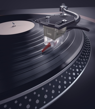 Record Player  Concept of music in nightclubs  Stock Photo - 16878746