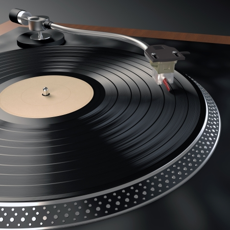 Record Player. Concept of music in nightclubs. Stock Photo - 16913558