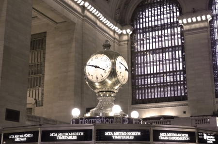 Grand Central Terminal, New York City, USA - June 23, 2011: The clock of Grand Central Terminal.