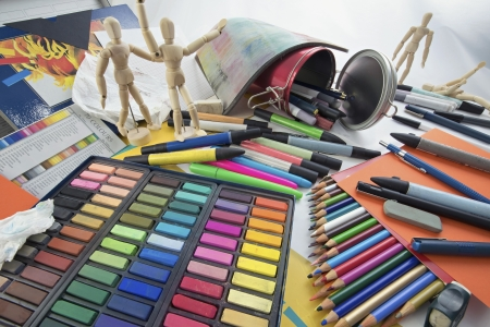 Mess of various objects of artistic design. Stock Photo - 18133533