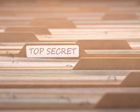 Top dossiers secrets mettant l'accent sur le dossier étiquetés.