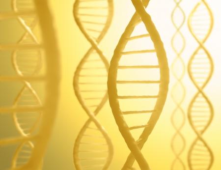 des séquences d'ADN en parallèle avec une lumière dans le fond. Banque d'images