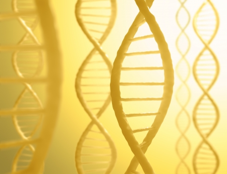 dna background: DNA sequences in parallel with a light in the background.