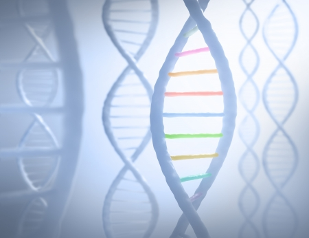 sequences: DNA sequences in parallel with a light in the background.