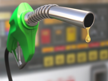 motor oil: Gas pump with a drop of gasoline fuel
