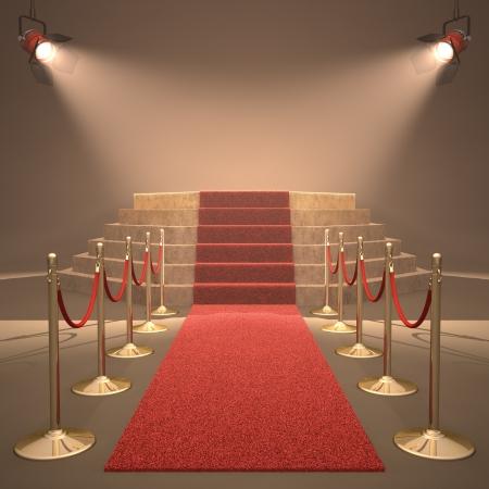 Luces iluminando el podio. Su texto a la luz. Foto de archivo