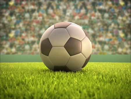Soccer ball on the field Stock Photo - 23021327