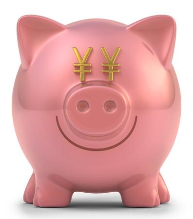 目の円記号含まれているクリッピングパスで貯金