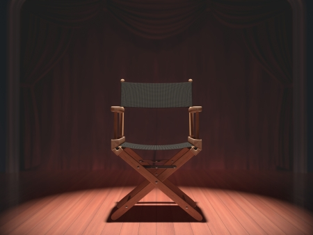 director's chair: Director Stock Photo