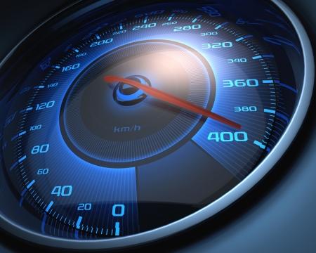 speed limit: Speedometer scoring high speed. The limit of speed.