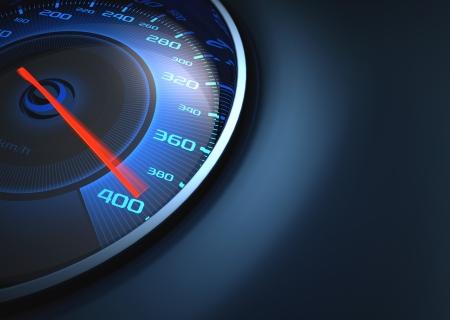 compteur de vitesse: Indicateur de vitesse marquant haute vitesse Votre texte sur le c�t� droit
