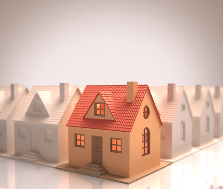 dwelling: The best choice of house. Your text on the clean space. Stock Photo