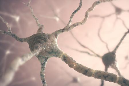 Beeld concept van neuronen in de hersenen. Stockfoto