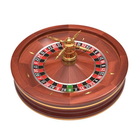 casino roulette: Roulette gambling on white  Stock Photo