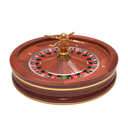 Roulette gambling on white background. Clipping path included. photo