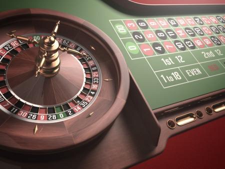 ruleta de casino: Jugar a la ruleta en el casino. Desenfoque y resplandor efecto a�adido a la imagen.