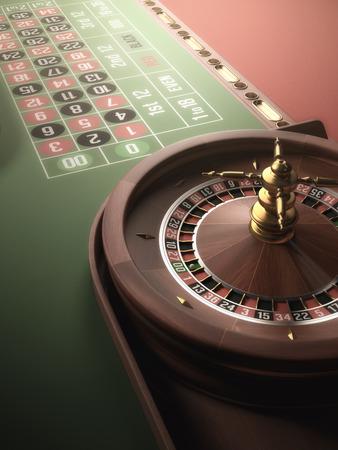 ruleta: Jugar a la ruleta en el casino. Desenfoque y resplandor efecto añadido a la imagen.