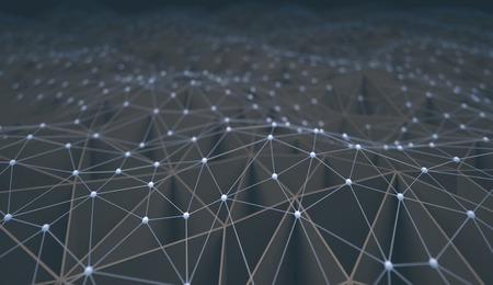Abstracte achtergrond van pijpen en verbindingen.