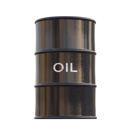 refine: Barrel of oil on white background with clipping path.