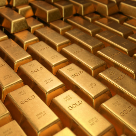 grams: Gold Bars 1000 grams. Depth of field on the gold word.