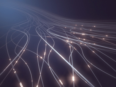 Abstract background in a concept of optical fiber. Stock Photo