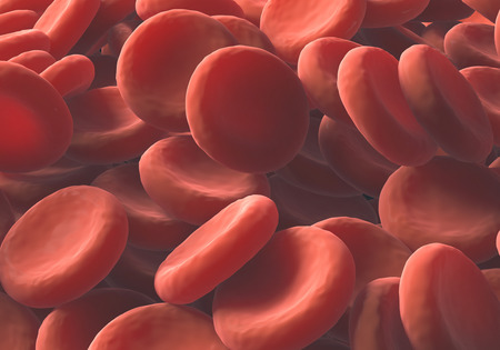 anemia: Red blood cells clusters one over the other. Stock Photo