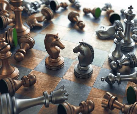 chess: Cara a cara de Controversias en el ajedrez. Foto de archivo