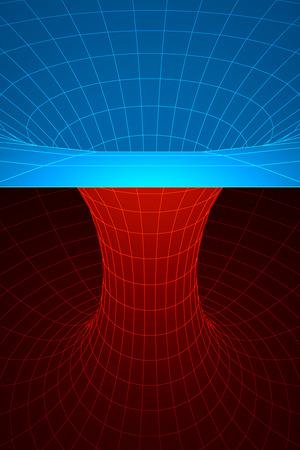 spacetime: A wormhole, or Einstein-Rosen Bridge, is a hypothetical shortcut connecting two separate points in spacetime.