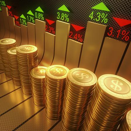 Koncepcja obrazu stylizowana grafika rynku akcji.