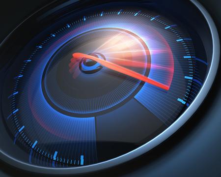 compteur de vitesse: Compteur de vitesse notation grande vitesse, mais sans chiffres indicateurs. Banque d'images