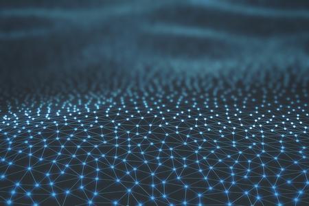 기술: 파이프 및 연결의 추상적 인 배경입니다.