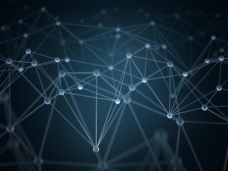 ネットワーク コンセプトで連結された接続ポイントと抽象的な背景は。