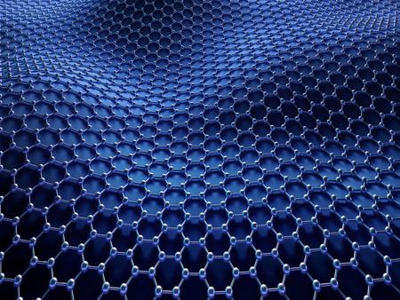 여러 분자가 연결되어 육각형 시스템에서 결정화되어 탄소 구조의 개념. 클리핑 패스가 포함되어 있습니다.