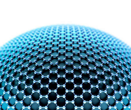 isotope: Several molecules connected, crystallized in the hexagonal system, concept of a carbon structure. Stock Photo