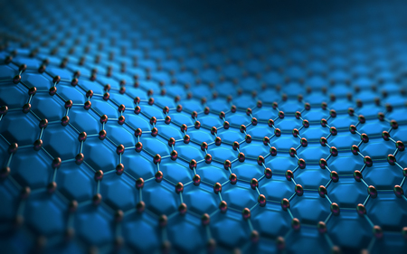 atomic: Abstract background hexagonal structure. Image concept of technology to use as background. Stock Photo