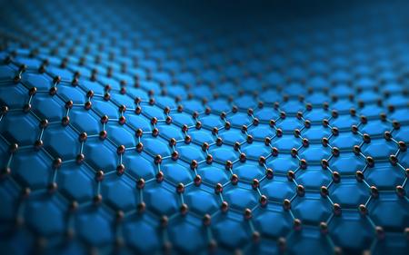 estructura: Resumen de antecedentes estructura hexagonal. Concepto de la imagen de la tecnología para utilizar como fondo. Foto de archivo