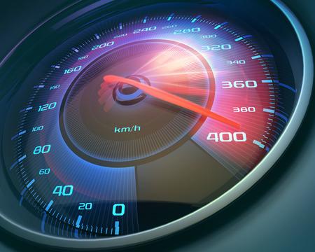 Tachimetro segnando ad alta velocità, ma senza numeri indicatori.